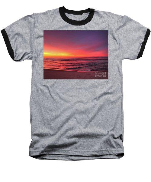 Pink Lbi Sunrise Baseball T-Shirt