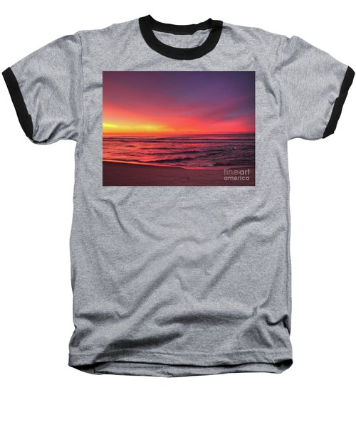 Pink Lbi Sunrise Baseball T-Shirt