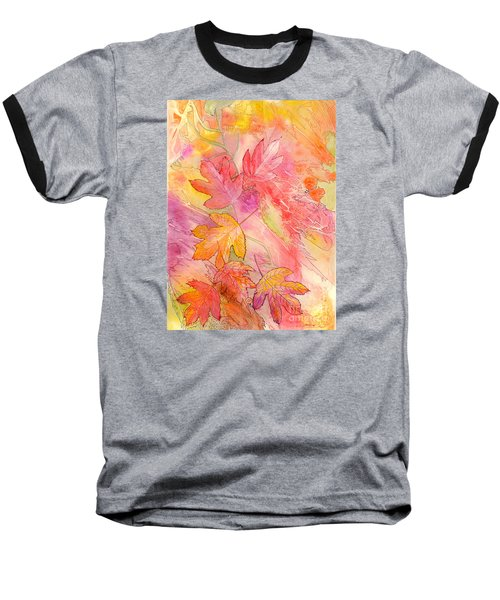 Pink Leaves Baseball T-Shirt