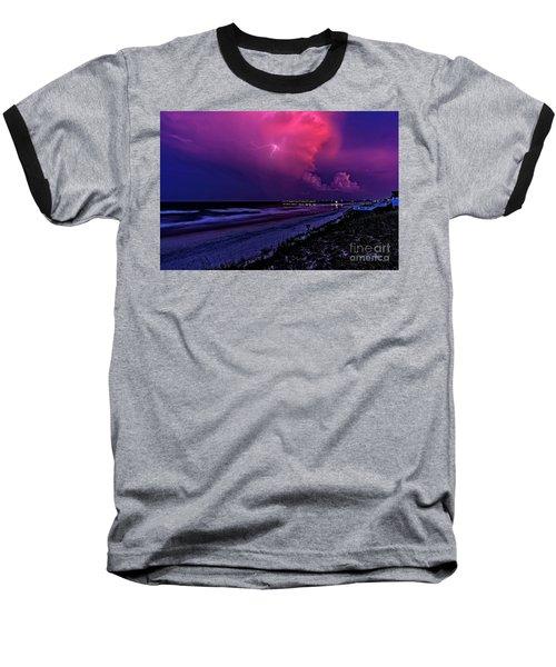 Pink Lightning Baseball T-Shirt