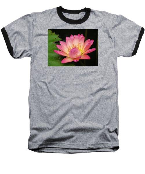 Pink Lily 1 Baseball T-Shirt