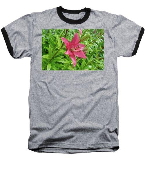 Pink Lily Flowers By Tamara Sushko  Baseball T-Shirt