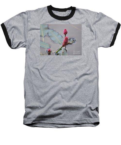 Pink Lily Pad Baseball T-Shirt