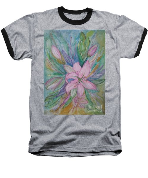 Pink Lily- Painting Baseball T-Shirt