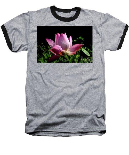 Pink Lotus  Baseball T-Shirt