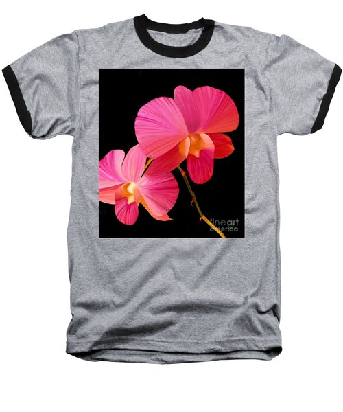 Pink Lux Baseball T-Shirt by Rand Herron