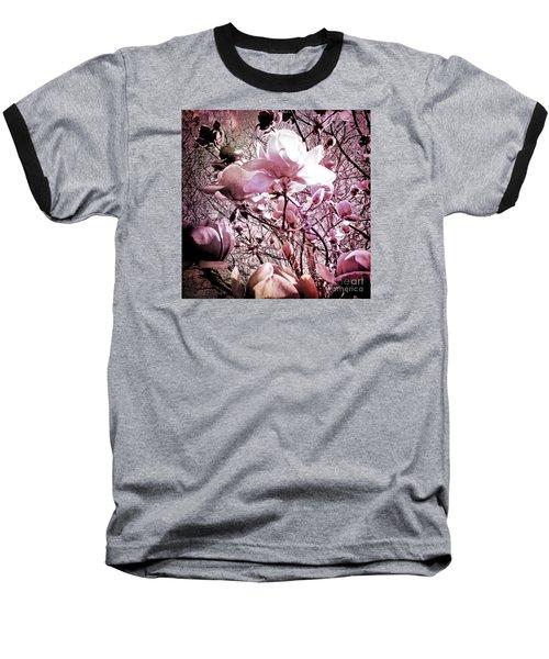 Pink Magnolias Baseball T-Shirt