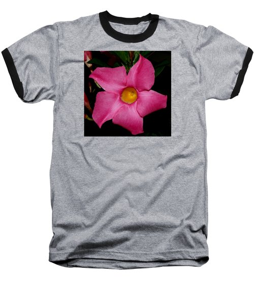Pink Mandevilla Baseball T-Shirt