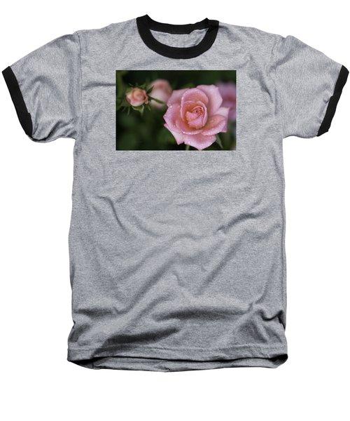 Pink Miniature Roses 3 Baseball T-Shirt