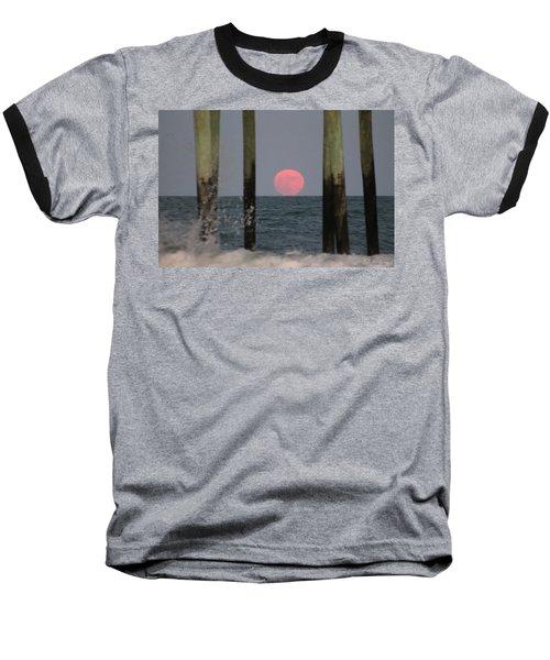 Pink Moon Rising Baseball T-Shirt