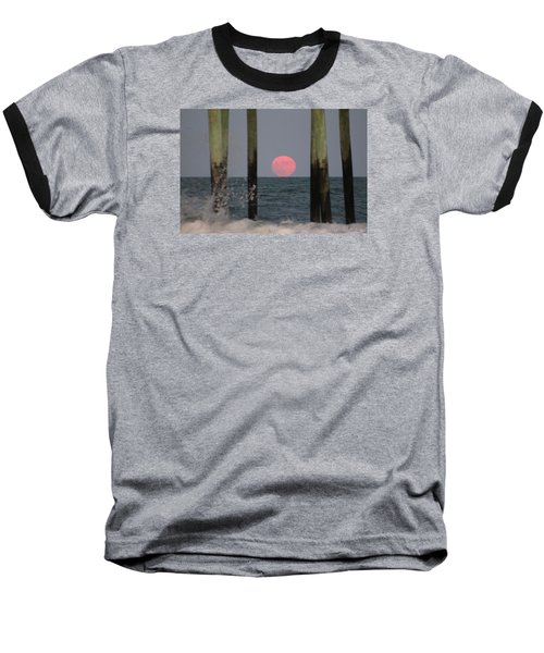 Pink Moon Rising Baseball T-Shirt