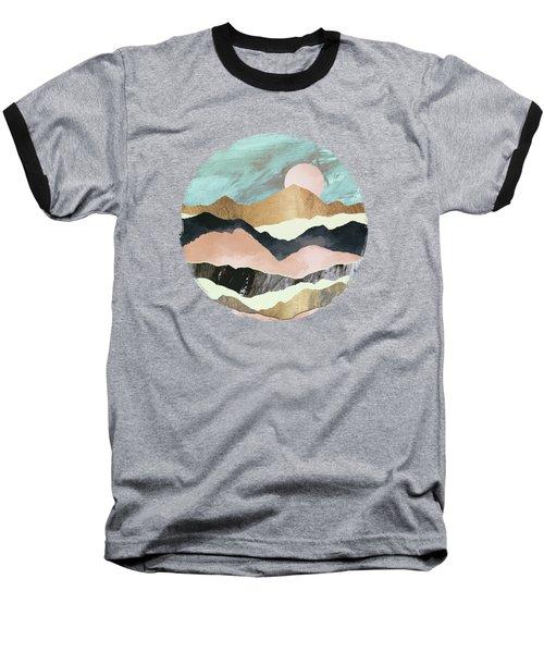 Pink Mountains Baseball T-Shirt