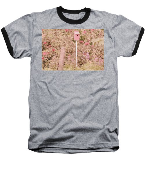 Baseball T-Shirt featuring the photograph Pink Nesting Box by Bonnie Bruno