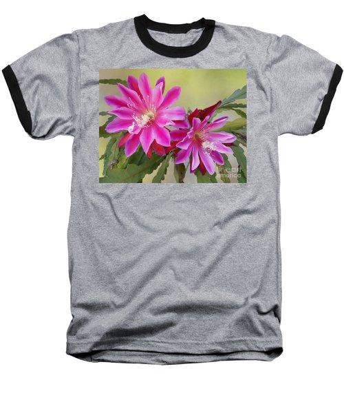 Pink Epiphyllum Lily Baseball T-Shirt