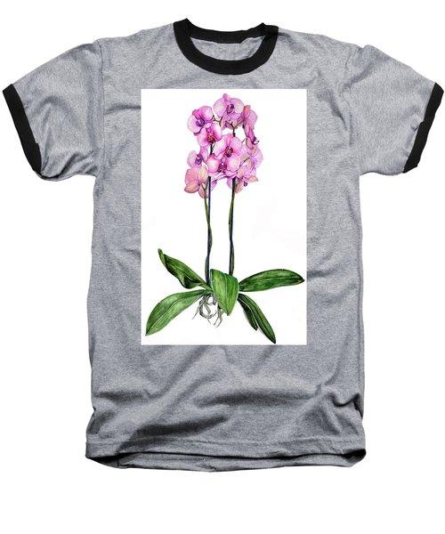 Pink Orchids Baseball T-Shirt by Heidi Kriel