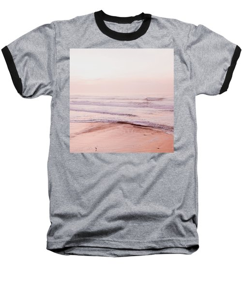 Baseball T-Shirt featuring the photograph Pink Pacific Beach by Bonnie Bruno