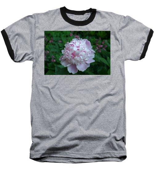 Baseball T-Shirt featuring the digital art Pink Peony by Barbara S Nickerson