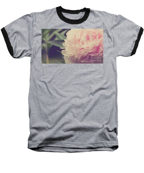 Baseball T-Shirt featuring the photograph Pink Peony Vintage Style by Edward Fielding