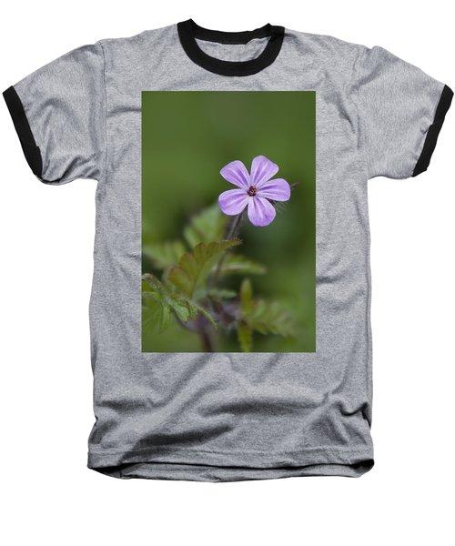 Pink Phlox Wildflower Baseball T-Shirt