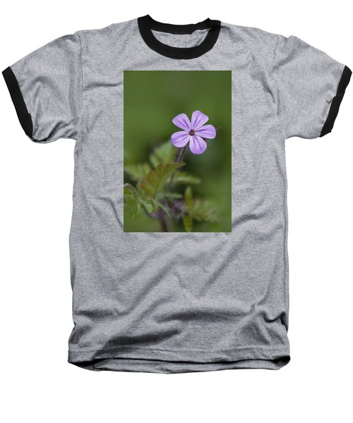 Pink Phlox Wildflower Baseball T-Shirt