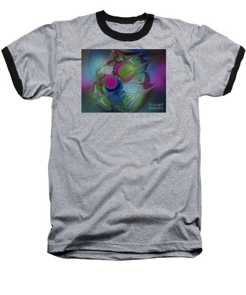 Baseball T-Shirt featuring the digital art Pink Ping Pong Ball by Karin Kuhlmann