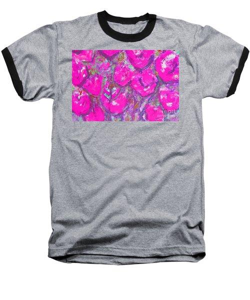 Pink Poppies Baseball T-Shirt