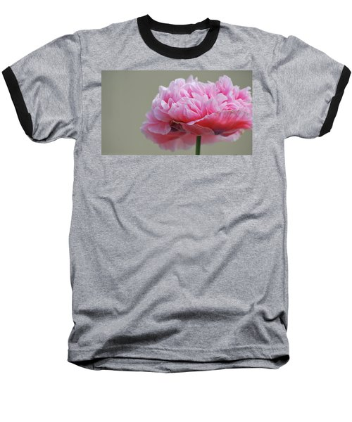 Pink Poppy Baseball T-Shirt