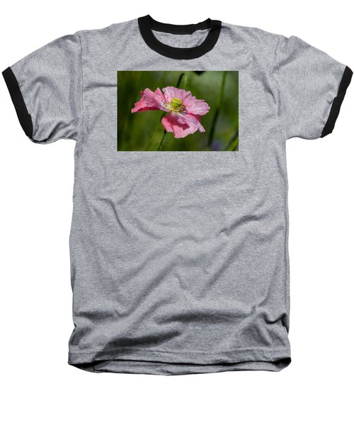 Pink Poppy Baseball T-Shirt