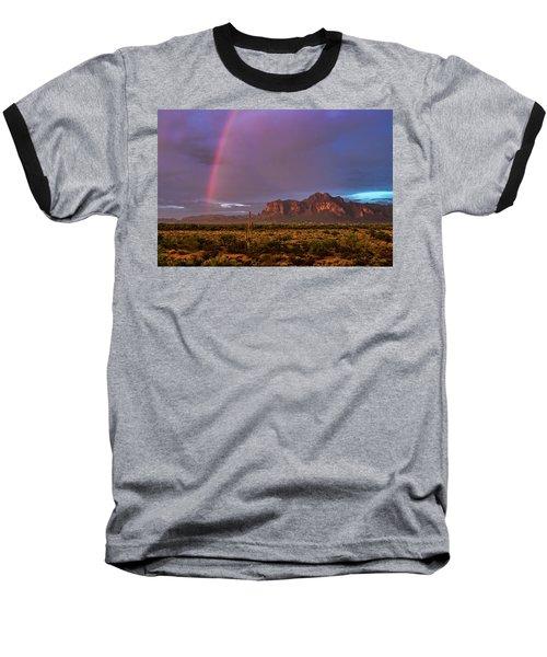 Baseball T-Shirt featuring the photograph Pink Rainbow  by Saija Lehtonen