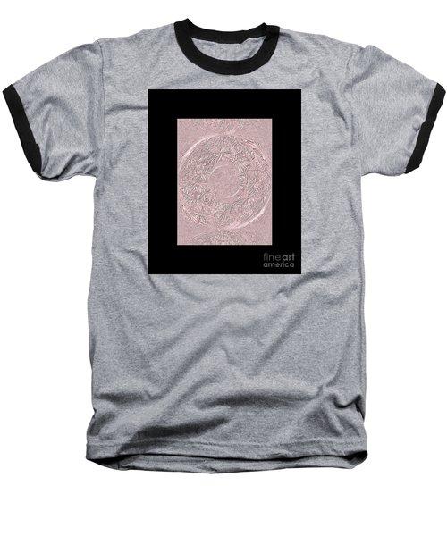 Baseball T-Shirt featuring the digital art Pink Ring. Special by Oksana Semenchenko