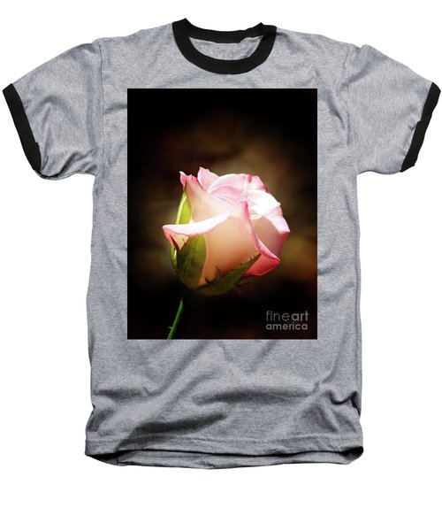 Pink Rose 2 Baseball T-Shirt by Inspirational Photo Creations Audrey Woods