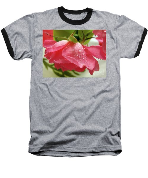 Pink Rose #3 Baseball T-Shirt