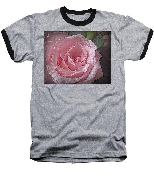 Pink Rose Bliss Baseball T-Shirt by Suzy Piatt