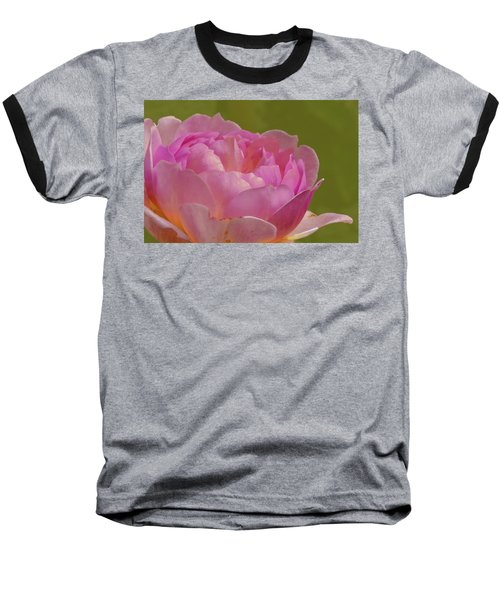 Pink Rose #d3 Baseball T-Shirt