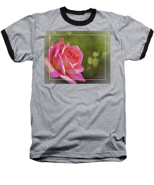 Pink Rose Dream Digital Art 3 Baseball T-Shirt