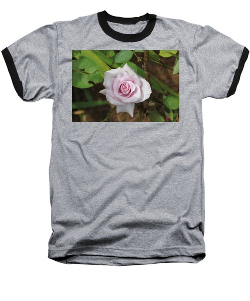 Baseball T-Shirt featuring the photograph Pink Rose by Jerry Battle