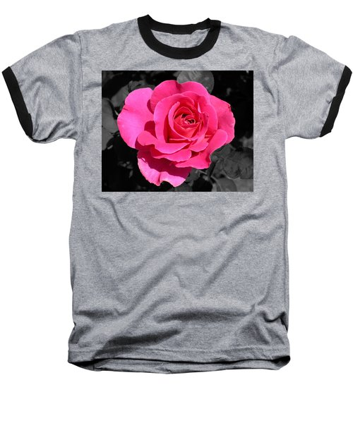 Perfect Pink Rose Baseball T-Shirt