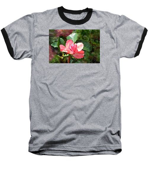 Pink Roses In The Rain 2 Baseball T-Shirt