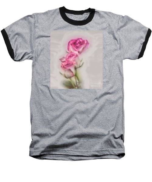 Baseball T-Shirt featuring the photograph Pink Roses by Shirley Mangini