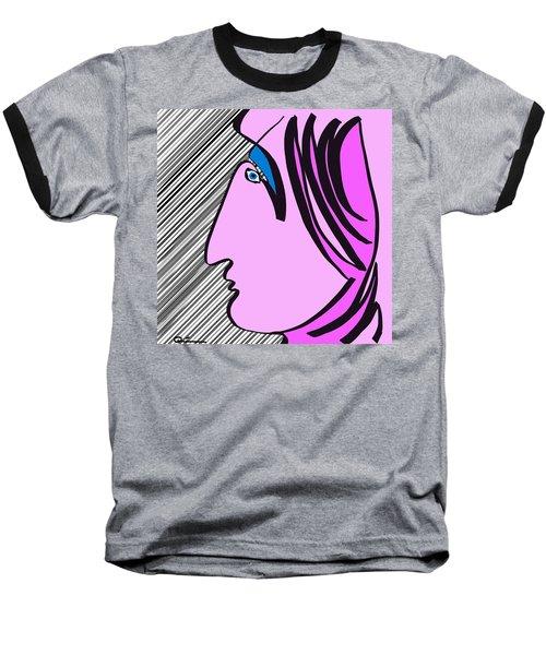 Pink Scarf Baseball T-Shirt