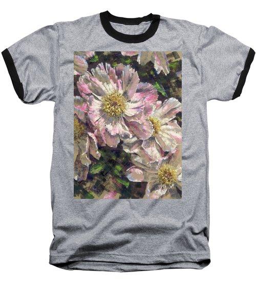 Pink Single Peonies Baseball T-Shirt