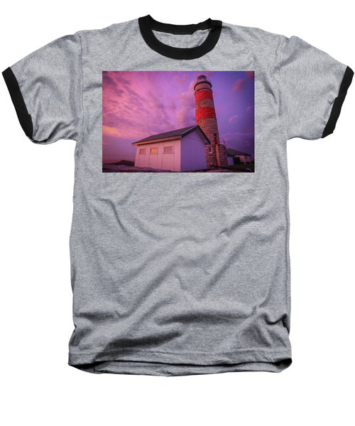 Pink Skies At Cape Moreton Lighthouse Baseball T-Shirt