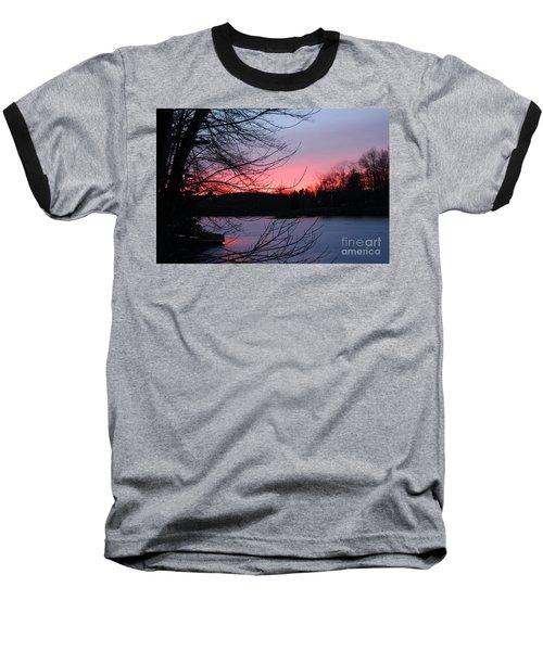 Pink Sky At Night Baseball T-Shirt