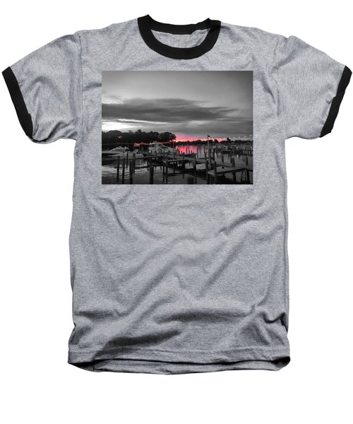 Pink Sunset Baseball T-Shirt