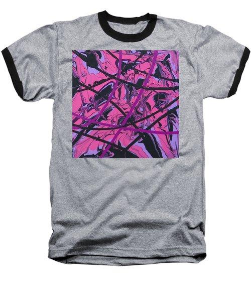 Pink Swirl Baseball T-Shirt