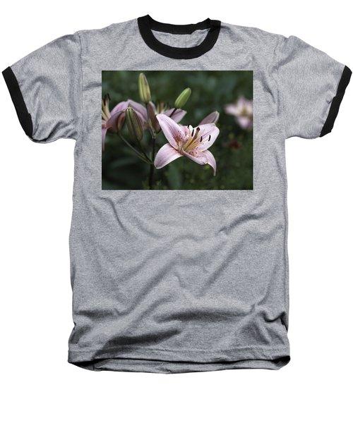 Pink Tiger Lily Baseball T-Shirt