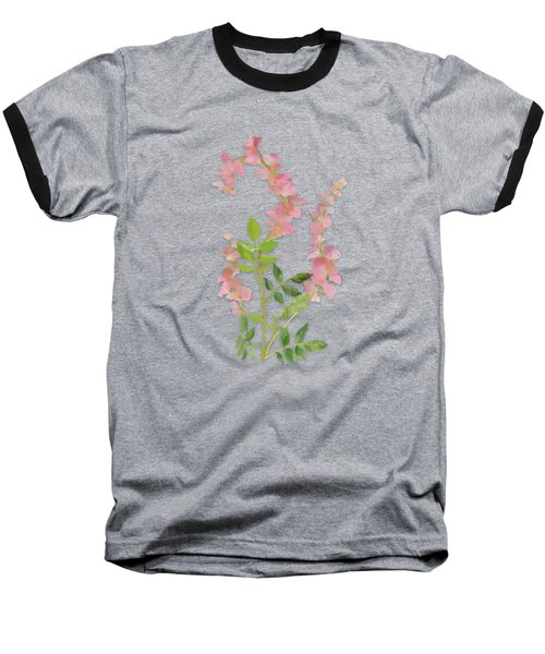 Pink Tiny Flowers Baseball T-Shirt by Ivana Westin