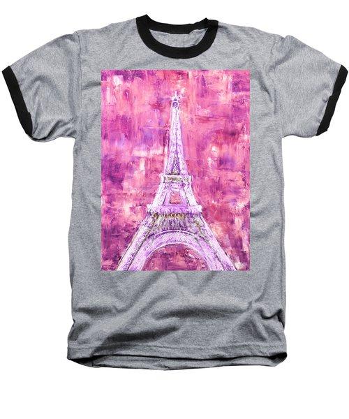 Pink Tower Baseball T-Shirt