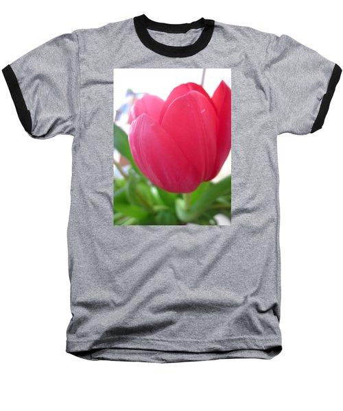 Pink Tulip Baseball T-Shirt