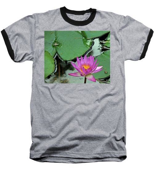 Baseball T-Shirt featuring the photograph Pink Water Lily by Judy Vincent